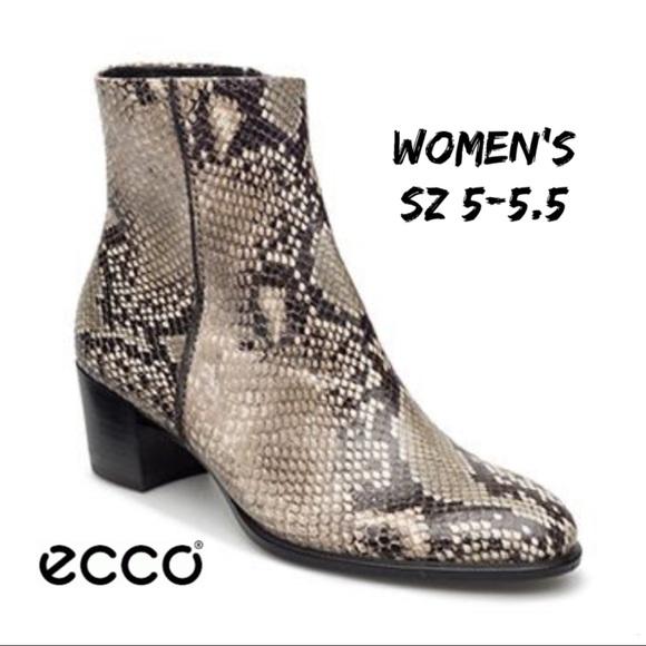 24c56dca Designer Ecco Shape 35 Snakeskin Boot Sz:5-5.5 SHO NWT